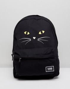 Классический рюкзак с кошачьим принтом Vans Realm - Черный