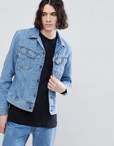 Выбеленная куртка узкого кроя Lee Rider - Синий
