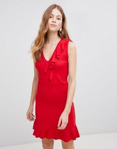 Платье с оборками Vila - Красный