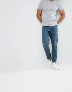 Темные джинсы узкого кроя в винтажном стиле ASOS - Синий