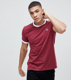 Бордовая футболка с отделкой лентой Fred Perry Sports Authentic - Красный