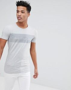 Приталенная футболка Calvin Klein - Серый