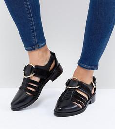 Туфли для широкой стопы на плоской подошве ASOS DESIGN Virgo - Черный