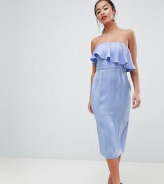 Платье-футляр с укороченным лифом-бандо ASOS DESIGN Petite - Фиолетовый