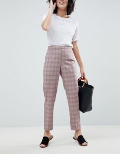 Узкие брюки в клетку ASOS DESIGN Tailored - Мульти