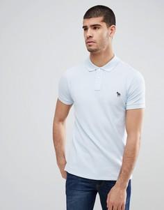 Поло голубого цвета узкого кроя с логотипом PS Paul Smith - Синий