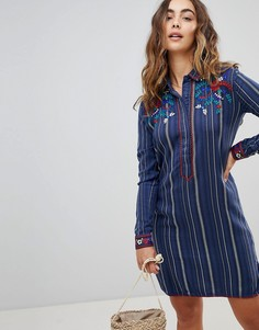 Платье с вышивкой Pepe Jeans Andrew - Темно-синий