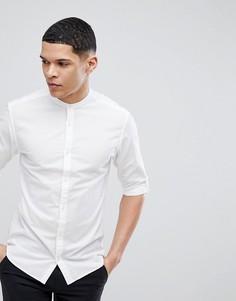 Рубашка кроя слим с воротником на пуговицах Jack & Jones Premium - Белый