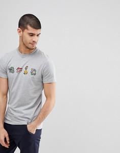 Серая облегающая футболка с принтом PS Paul Smith - Серый