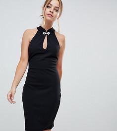 e35eccbd032 Платье мини с открытой спиной и кружевом City Goddess Petite - Черный