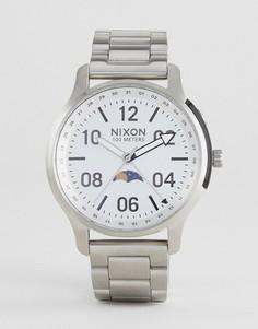 Серебристые наручные часы Nixon A1208 Ascender - Серебряный