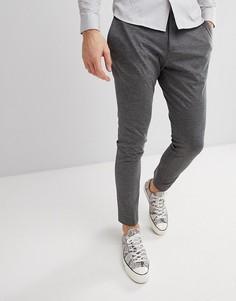 Трикотажные облегающие брюки Selected Homme - Серый