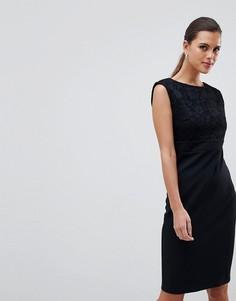 Кружевное платье миди без рукавов City Goddess - Черный