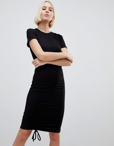 Присборенное платье мини Minimum - Черный
