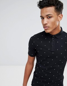 Узкая футболка-поло Calvin Klein - Черный