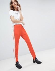 Эластичные брюки со штрипками HUGO - Оранжевый