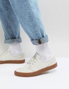 Бежевые кроссовки с резиновой подошвой Nike SB Stefan Janoski Trainers 333824-057 - Бежевый