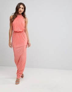 Плиссированное платье макси Love - Оранжевый