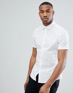 Белая облегающая эластичная рубашка ASOS DESIGN - Белый