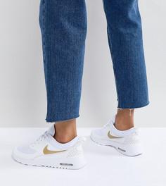 Бело-золотистые кроссовки Nike Air Max Thea - Белый