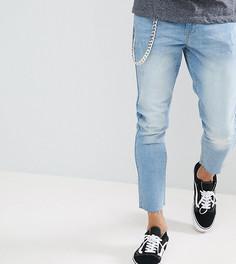 Укороченные джинсы слим с цепочкой Brooklyn Supply Co. - Кремовый