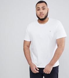 Белая узкая футболка Farah PLUS Farris - Белый