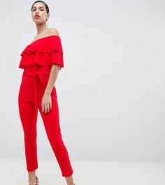Комбинезон-бандо с оборками Silver Bloom - Красный