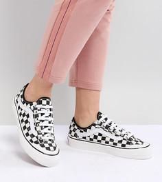 Кроссовки с принтом в шахматную клетку Vans - Черный