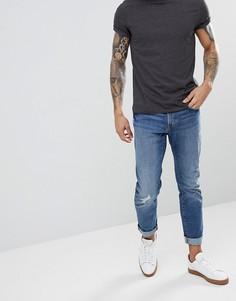 Выбеленные узкие рваные джинсы Esprit - Синий