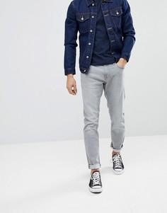 Светло-серые выбеленные узкие джинсы Esprit - Серый