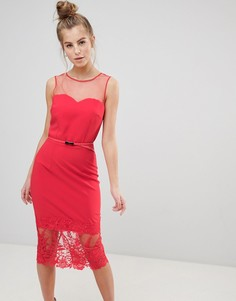Платье-футляр миди Little Mistress - Красный
