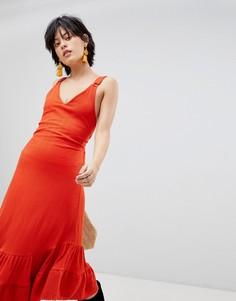 Платье макси Free People - Красный