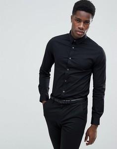Черная узкая строгая рубашка с длинными рукавами Celio - Черный