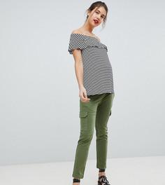 Стретчевые брюки карго Isabella Oliver - Зеленый