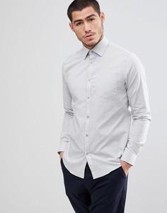 Узкая строгая рубашка в мелкий горошек Esprit - Белый