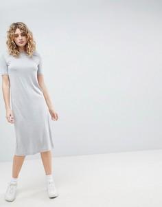 Платье миди Weekday - Серый