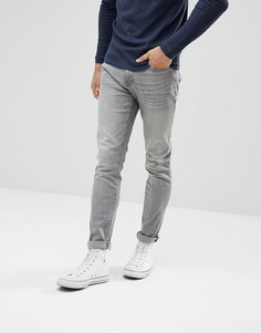 Серые выбеленные джинсы узкого кроя Celio - Серый