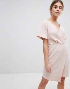 Платье мини с запахом Closet London - Розовый