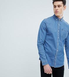 Узкая джинсовая рубашка ASOS DESIGN Tall - Синий