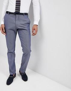 Фактурные брюки узкого кроя Selected Homme - Темно-синий