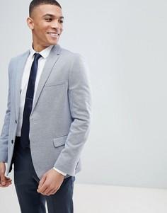 Узкий пиджак из пике Burton Menswear - Синий
