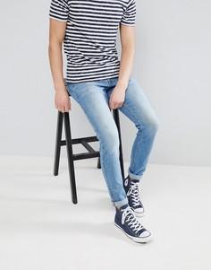 Синие выбеленные джинсы узкого кроя Dr Denim Clark - Синий