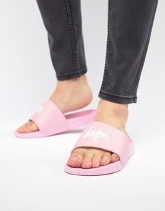 Розовые шлепанцы с логотипом Hype - Розовый