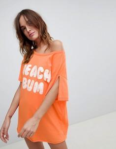 Трикотажная oversize-футболка ASOS DESIGN - Оранжевый