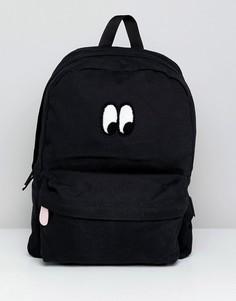 Рюкзак с принтом глаз Vans X Lazy Oaf - Черный