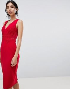 Кружевное платье-футляр Little Mistress - Красный