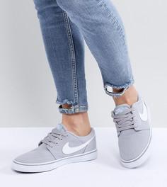 Серые парусиновые кроссовки Nike Sb Portmore Ii Solar - Серый