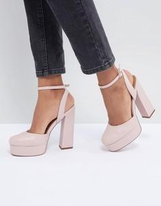 Туфли на каблуке и платформе ASOS DESIGN Parachute - Розовый