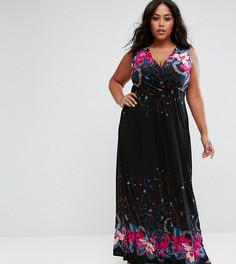 Платье макси с принтом Praslin - Черный