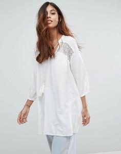 Платье-туника с вышивкой Vero Moda - Белый